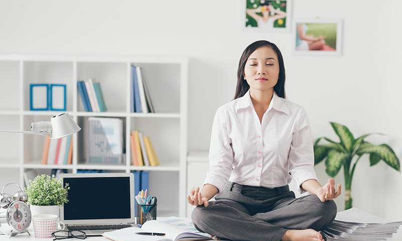 Best Yoga Poses at Work | Ana Heart Blog